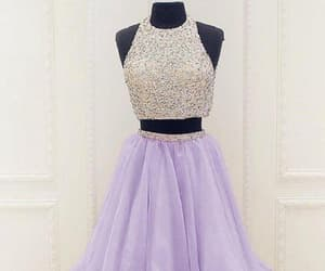 prom dress ball gown, two pieces prom dress, and 2018 prom dress image