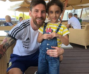 tierno, niña, and messi image