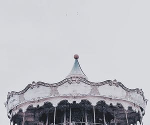 carousel and white image