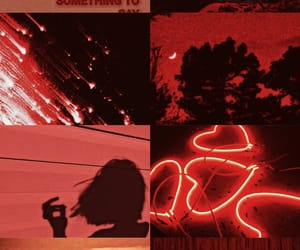 black, red, and Collage image