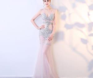 evening dress, evening dresses, and girl image