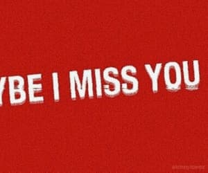 quote, red, and miss u image