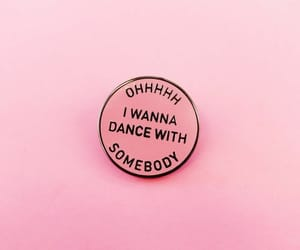 80s, pin, and pink image