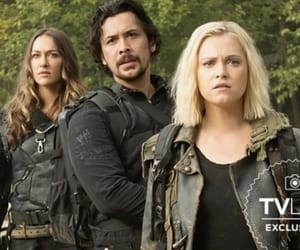 echo, bob morley, and clarke griffin image