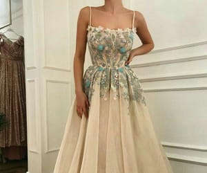 dress, style, and flowers image