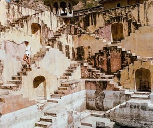 india, travel, and stairs image