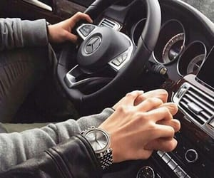 car, hands, and jacket image