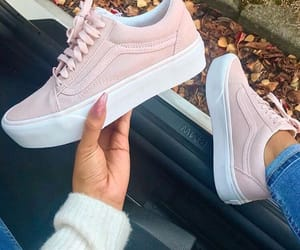 baby pink, pink shoes, and vans image