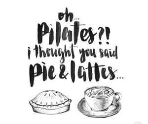 latte, pilates, and funny image