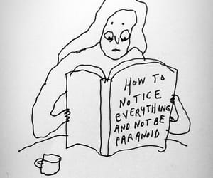 paranoid, book, and art image