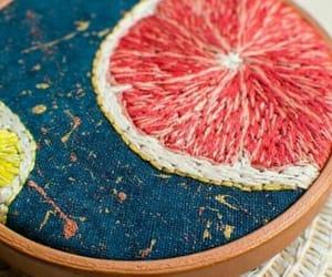 bordado, limón, and arte image