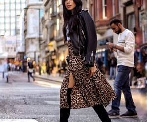 fashion, leopard print, and street style image