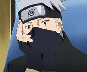 anime, gif, and kakashi image