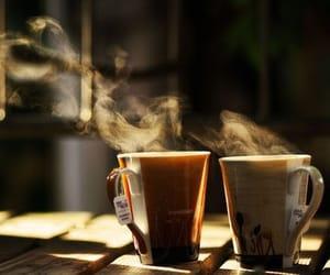 tea, coffee, and fall image