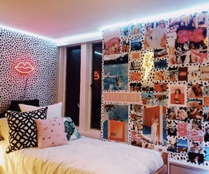 bed, cool room, and decoration image