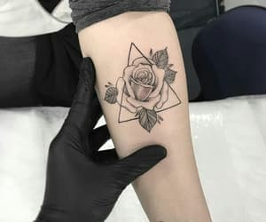 tattoo, rose, and tattos image