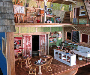 miniature, doll house, and dollhouse image