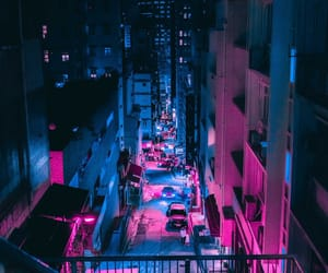blue, neon, and city image