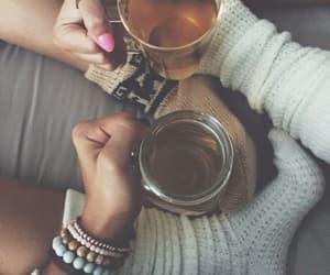 tea, autumn, and socks image