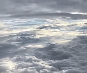 airplane, clouds, and gif image