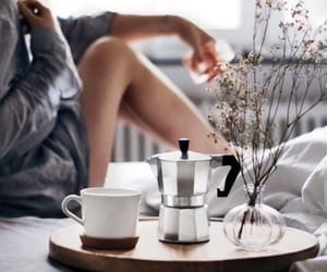 coffee, girl, and stylish image