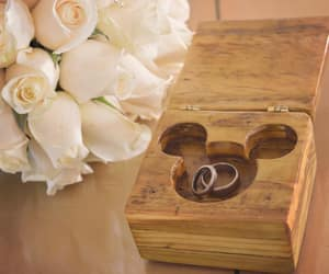 disney, wedding rings, and mickey mouse image