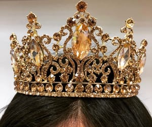 crown, gold, and princess image