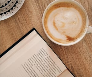 chill, coffee, and reading image