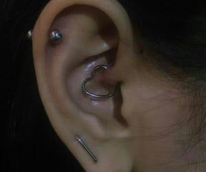 earrings, ear, and girl image