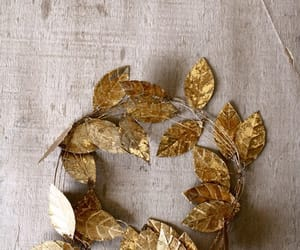 gold, leaves, and crown image