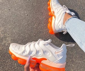 shoes, nike, and orange image