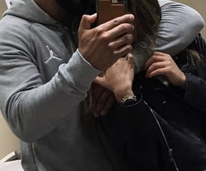 couple, love, and mirror selfie image