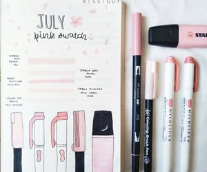 journaling, pink, and rose image