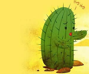 cactus, girl, and love image