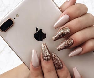 nails, iphone, and beauty image