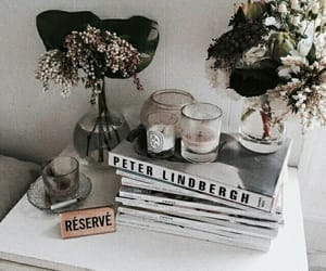 books, flowers, and indie image