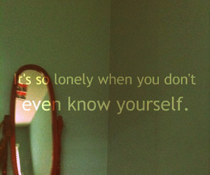 lonely and typography image