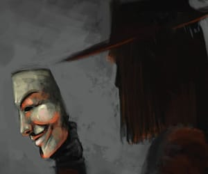 v for vendetta, mask, and wallpaper image