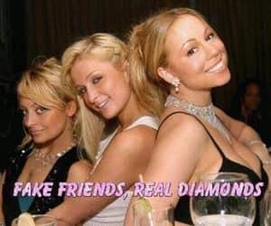diamonds, fake, and friends image