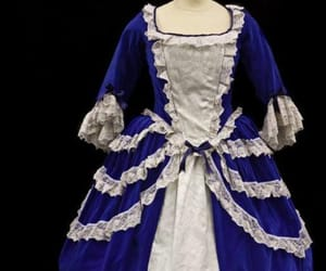 19th century, blue gown, and dark blue image