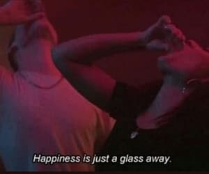 happiness, alcohol, and grunge image