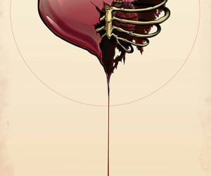 heart, art, and blood image
