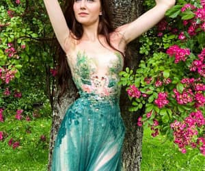 dress, fairy tale, and green image