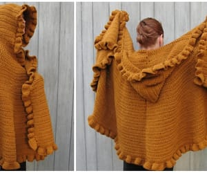 cape, crochet, and shawl image