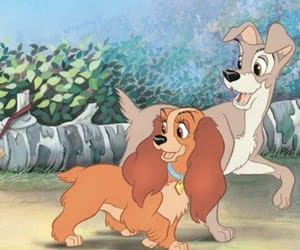 disney, lady, and tramp image