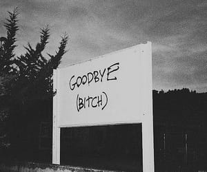 bitch, goodbye, and grunge image