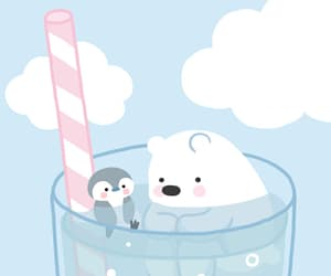 animal, bear, and penguin image