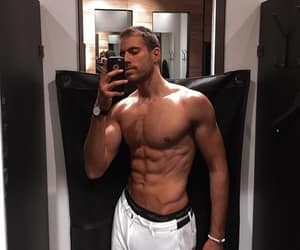man, naked, and abs image