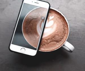 cappuccino, coffee, and coffee art image