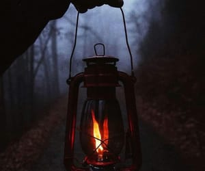 autumn, camping, and dark image